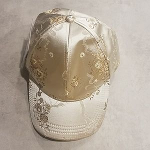 Misguided adjustable cap hat silver gold  New